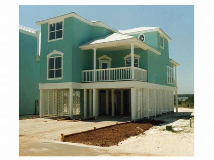 narrow lot beach home 017h 0033 - Beach Home Plans