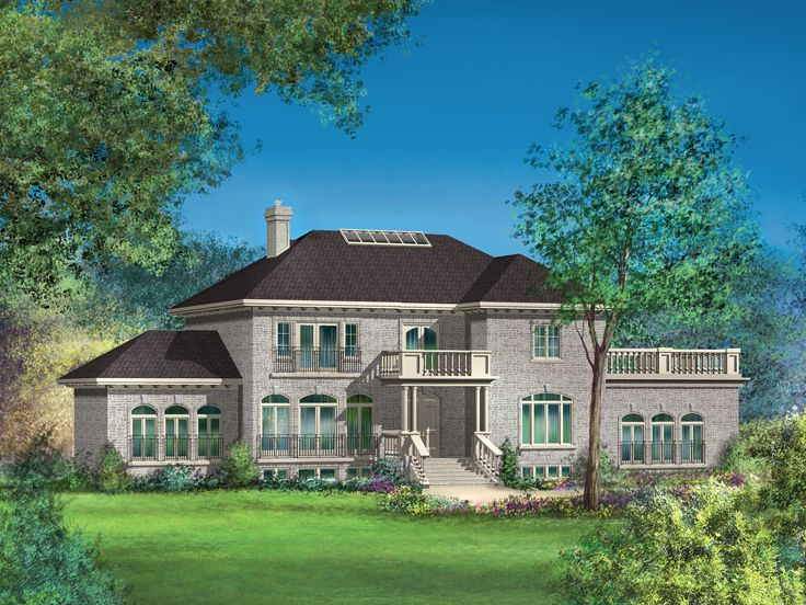 Luxury European House Plan, 072H-0224