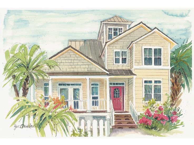 Coastal House Plan, 041H-0128