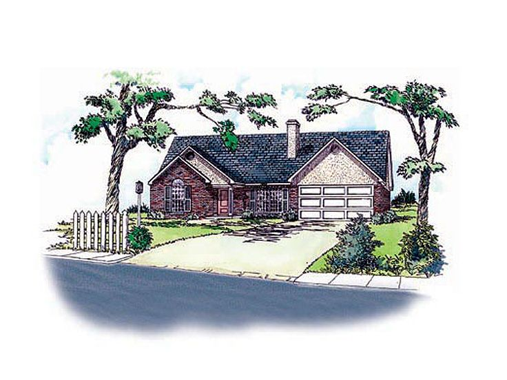 Ranch Home Plan, 060H-0004
