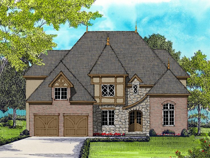 European House Plan, 029H-0120