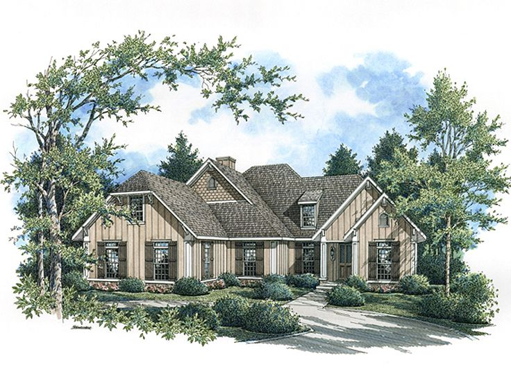 Ranch Home Design, 021H-0231