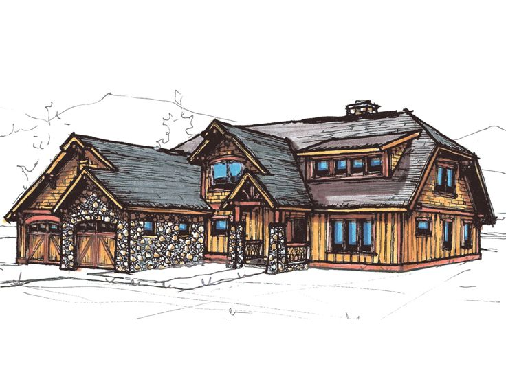 Craftsman Home Plan, 025H-0203