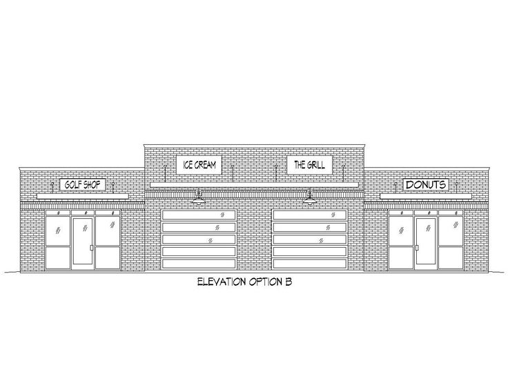 Commercial Building Elevation Drawing : Strip mall plans commercial building plan offers a