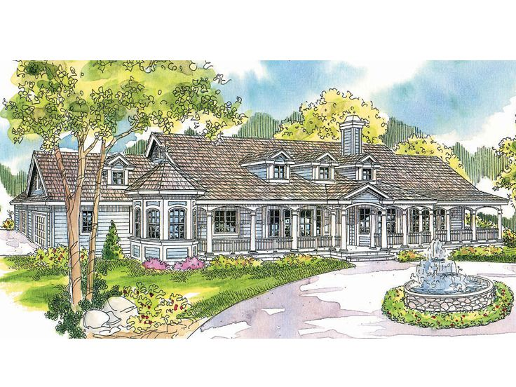 Country House Design, 051H-0036