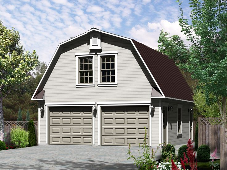 Studio apartment plans barn style 2 car garage for Carport with apartment above