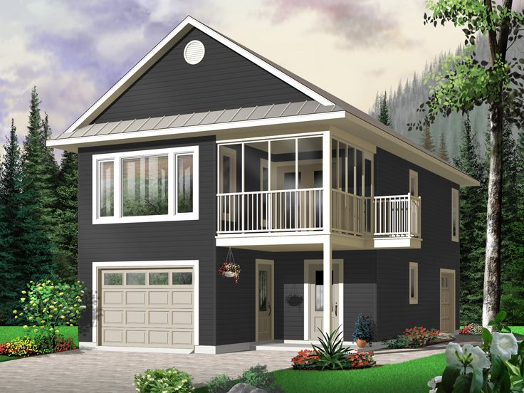 Garage apartment plans carriage house plan with tandem for 4 bay garage plans