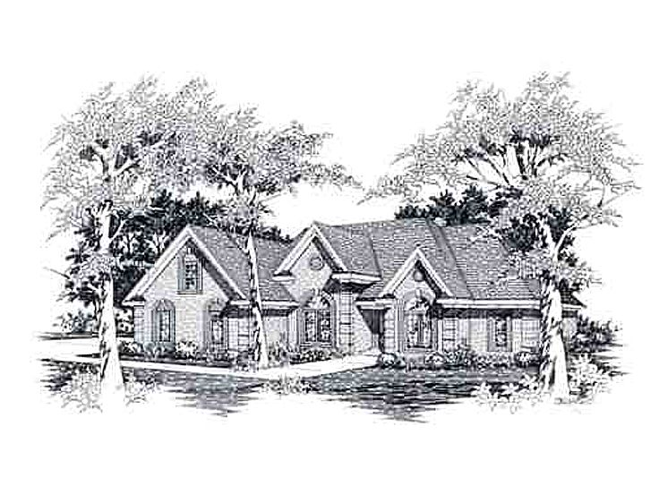 Traditional House Plan, 061H-0095