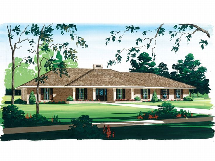 Ranch House Design, 021H-0157