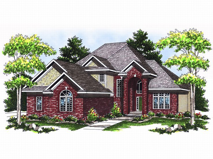 Traditional Home Design, 020H-0091