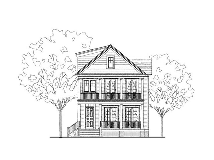 Southern Country Home, 058H-0056