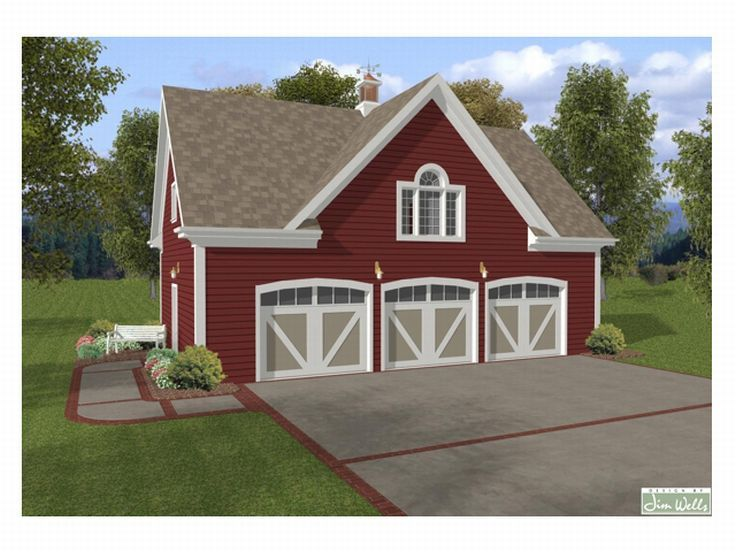 Carriage house plans carriage house plan with 3 car for Car carriage