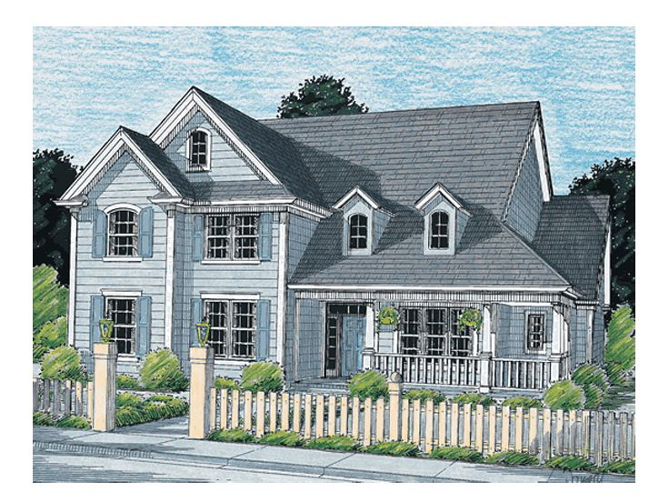 Two-Story House Design, 059H-0038