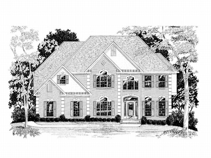 2-Story House Plan, 007H-0095