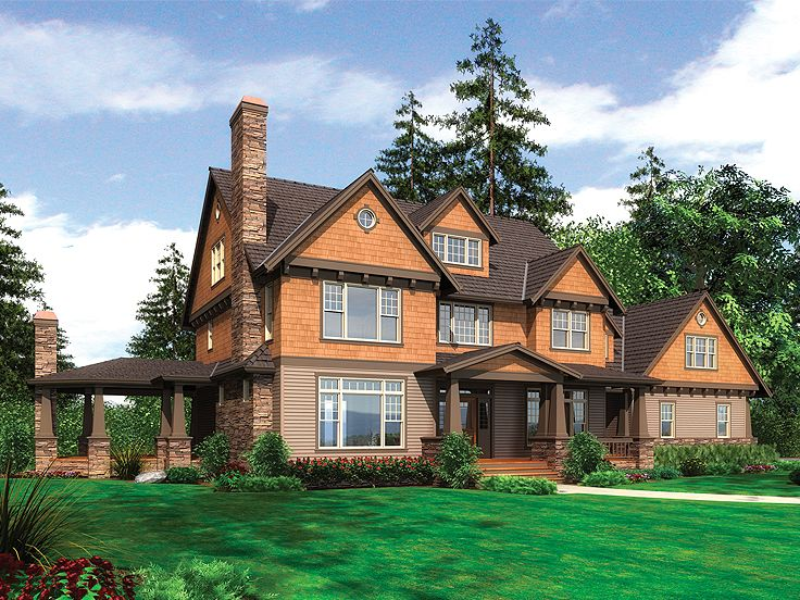 Luxury Craftsman House, 034H-0041