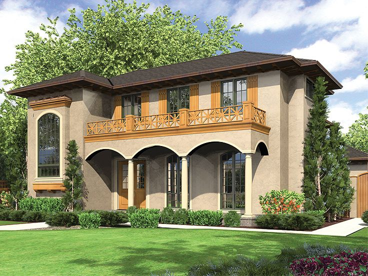 Plan 034h 0034 find unique house plans home plans and for Small tuscan style house plans