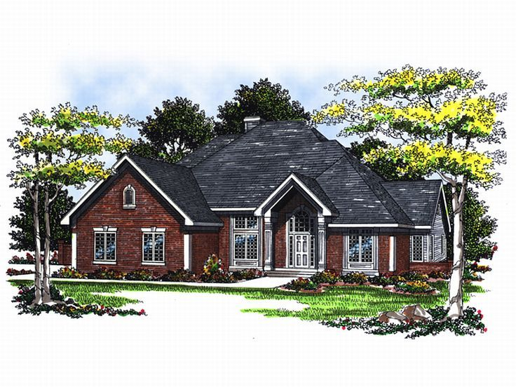 Traditional House Plan, 020H-0001