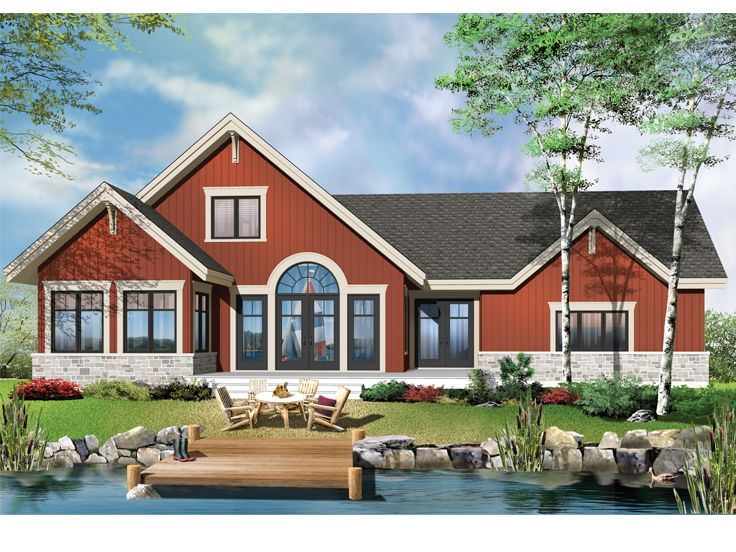Waterfront Home Plans 2 Story Waterfront House Plan