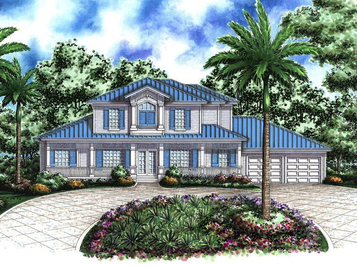 Old Florida Style Home, 040H-0063