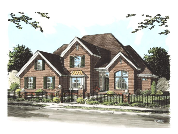 European house plans two story european home plan 059h for 2 story european house plans