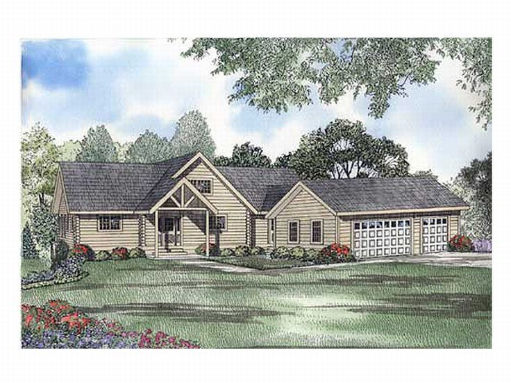 Log Home Plan, 025L-0016