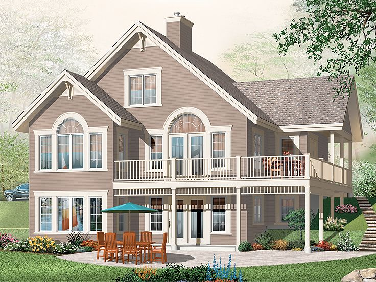 Mountain House Plan, 027H-0288