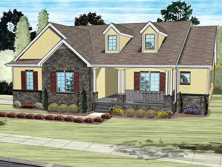One-Story Home Plan, 050H-0098