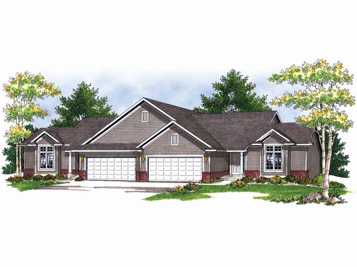 Duplex House Plan, 020M-0016