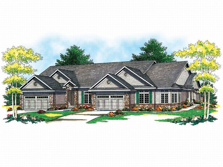 Multi-Family House Plan, 020M-0035