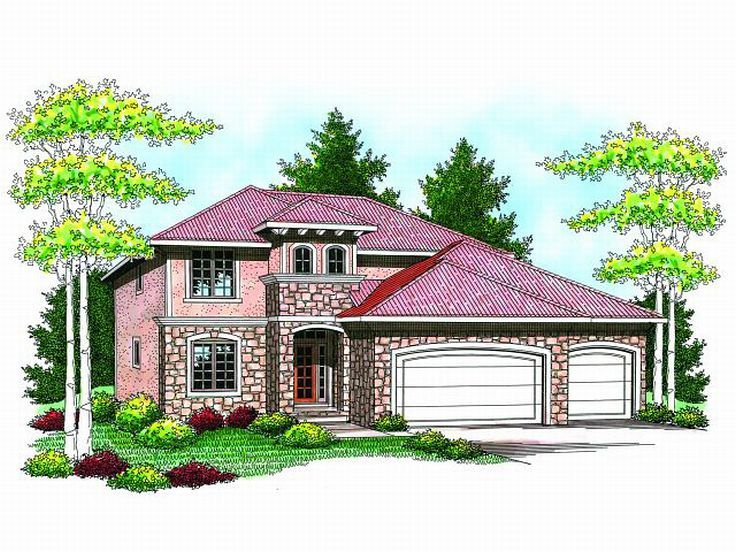 Tuscan House Plan, 020H-0183