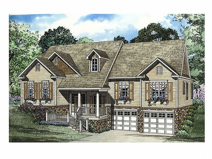 Plan 025h 0094 find unique house plans home plans and for Sloped lot home designs