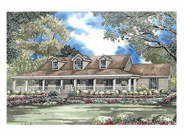 Country House Plan, 025H-0125