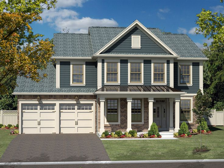 Traditional Home Plans | Traditional 2-Story House Plan For Large
