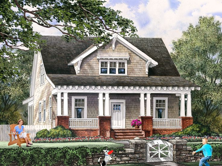 Bungalow House Plan, 063H-0103