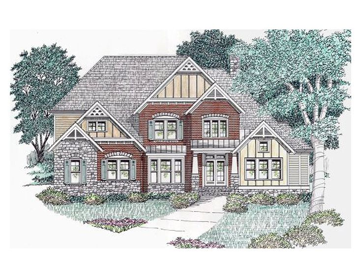 Craftsman Home Plan, 045H-0034