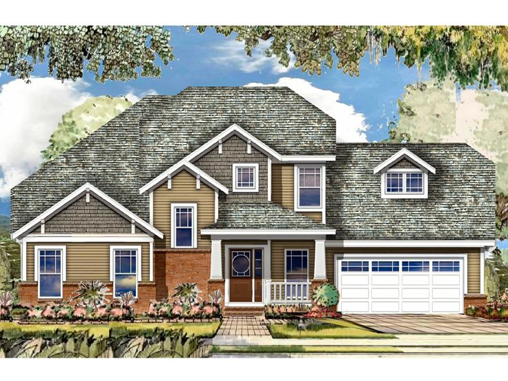Craftsman House Plan, 061H-0169