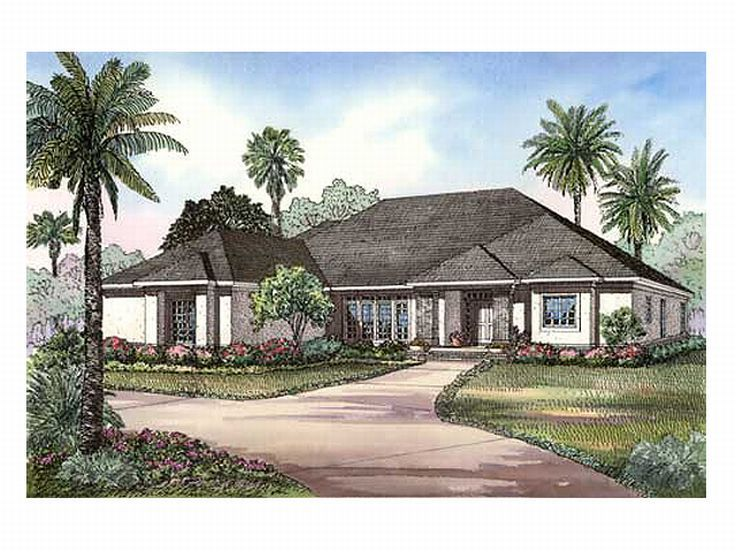 Sunbelt Home Plan, 025H-0117