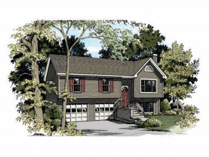 Split-Level Home Plan, 007H-0014