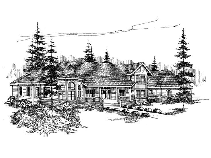 Two-Story House Plan, 013H-0025