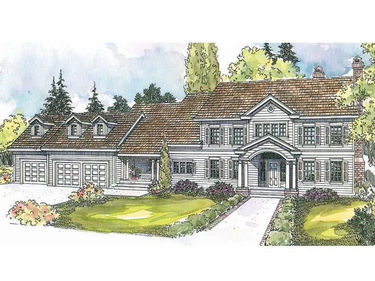 Colonial House Plan, 051H-0122