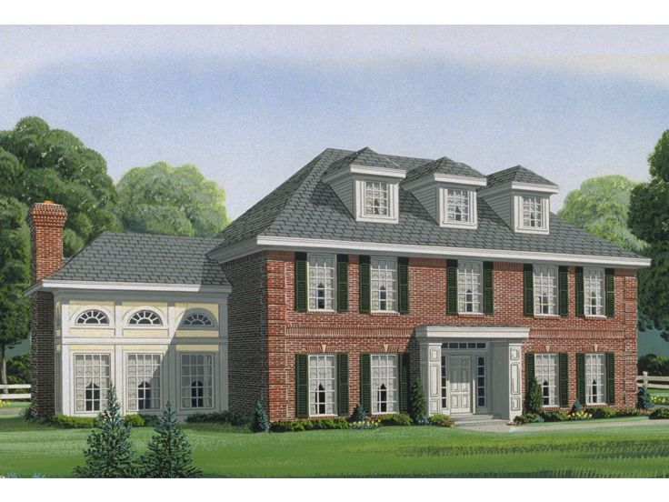 Plan 054h 0052 find unique house plans home plans and for Colonial home designs