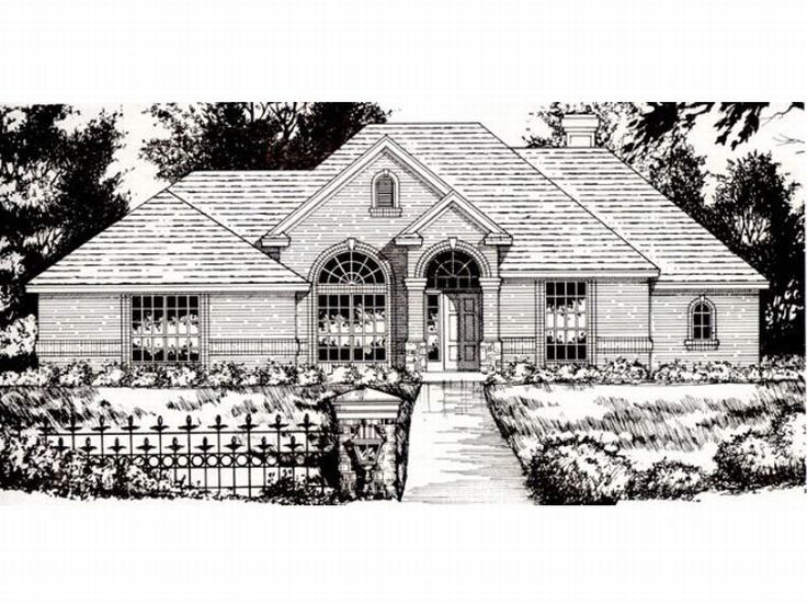 Ranch Home Plan, 015H-0070