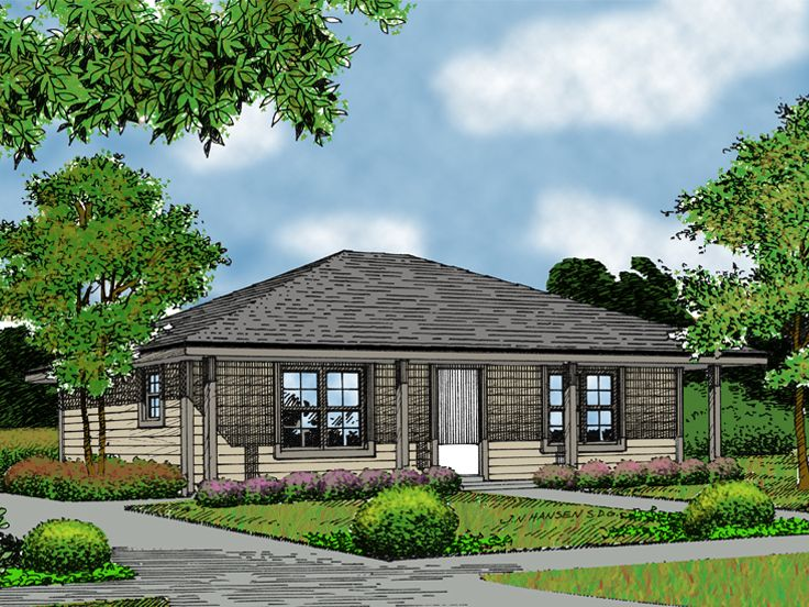 Cottage Home Design, 042H-0003
