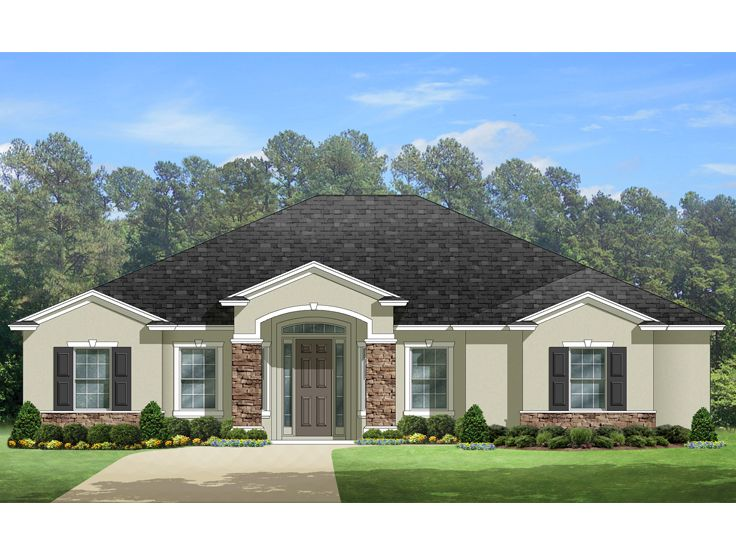Floridian Home Plan, 064H-0083