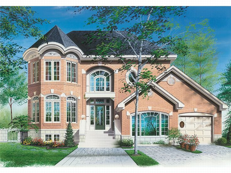 Two-Story House Plan, 027H-0041