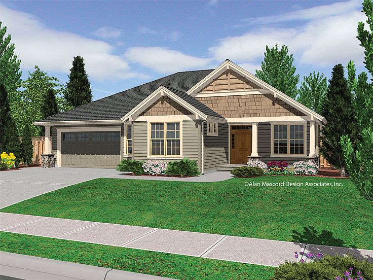 Ranch House Plan, 034H-0076