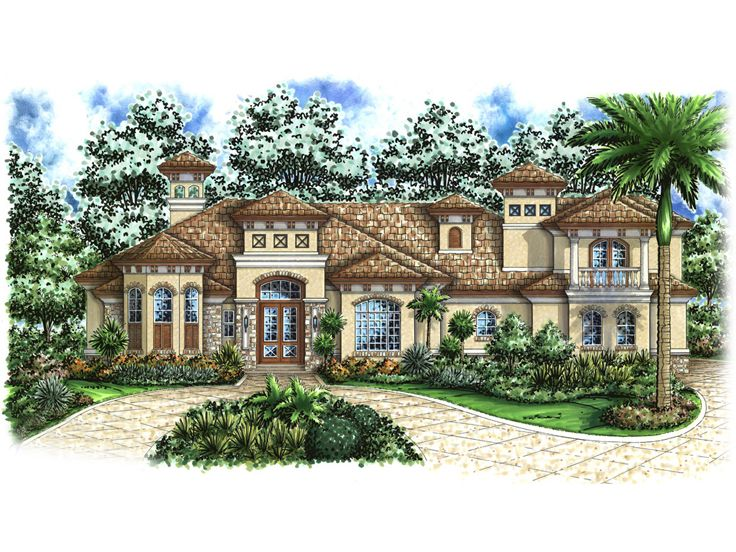 European House Plan, 037H-0063