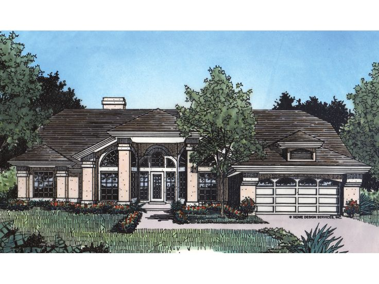 Ranch Home Plan, 043H-0082
