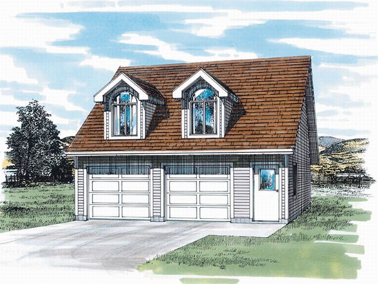 Garage apartment plans two car garage apartment plan for Garage with dormers