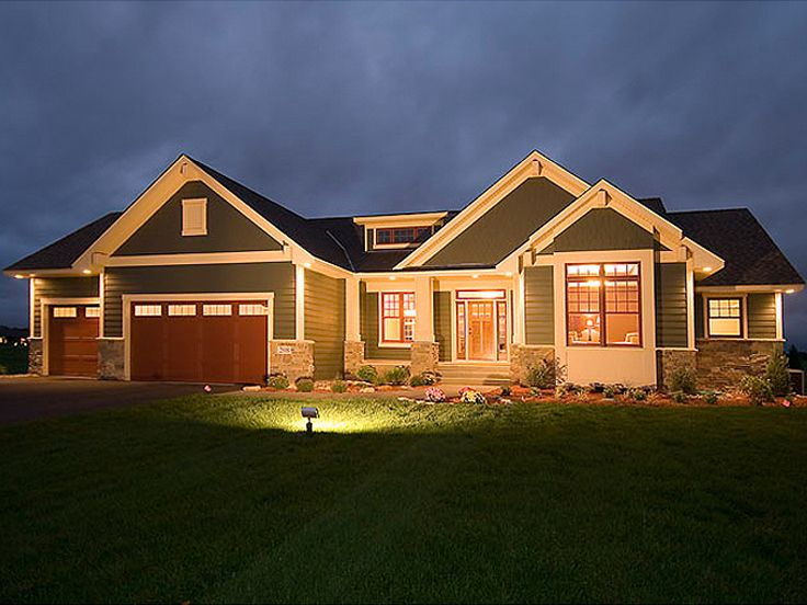 Ranch House Plan with Full Basement : The House Plan Site